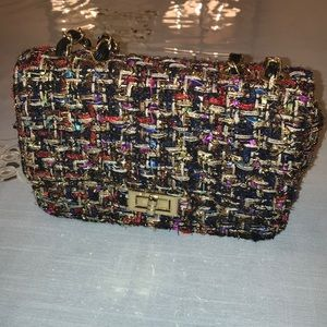 Quilter colorful shoulder purse